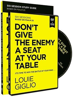 Picture of Don't Give the Enemy a Seat at Your Table Study Guide with DVD