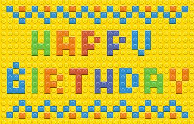 Picture of Happy Birthday Postcards - Blocks - (Pk 25)