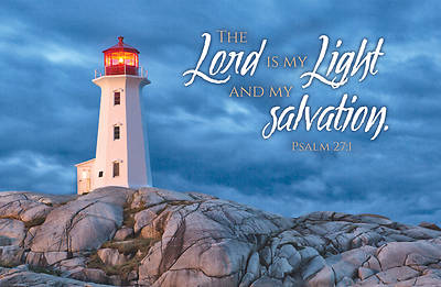 The Lord is My Light and Salvation Postcard Pkg of 25