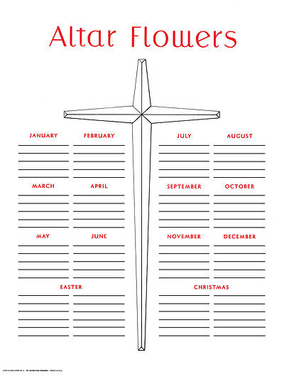 Picture of Altar Flower Chart #3