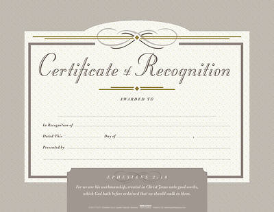 Picture of Recognition Flat Certificate