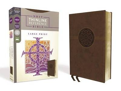 Picture of NRSV, Thinline Reference Bible, Large Print, Leathersoft, Brown, Comfort Print
