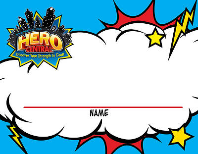 Vacation Bible School VBS Hero Central Nametag Cards (Pkg of 24)