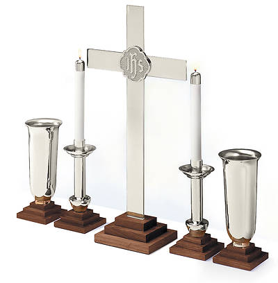 SILVERPLATE CHAPEL LINE ALTAR SET