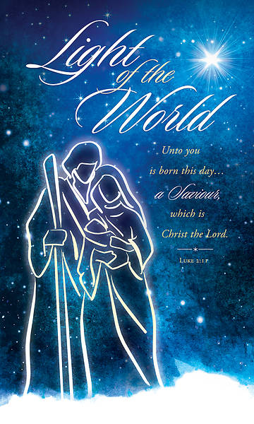 Picture of Light of the World Christmas 3' X 5' Fabric Banner