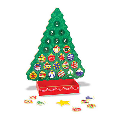Picture of Wooden Magnetic Advent Calendar Tree