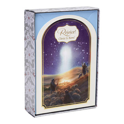 Rejoice Christ Is Born Christmas Cards Box of 18