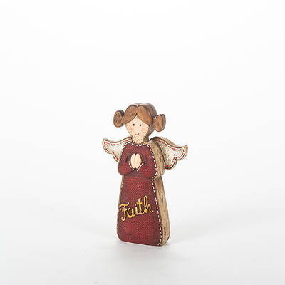 Picture of Resin Angel In Red - Faith