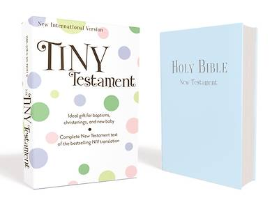 Picture of NIV Tiny Testament Bible - Leather Look Blue