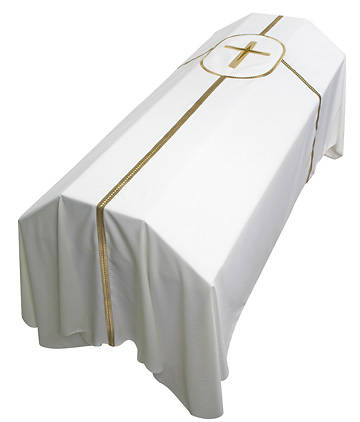 Ivory Liberty with Star Cross Small Funeral Pall 7 X 5