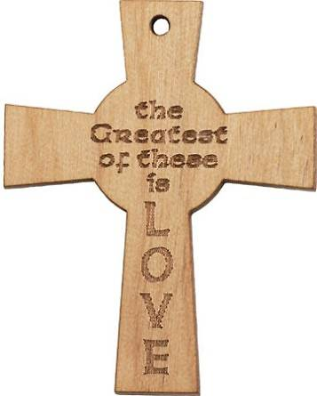 Picture of Love Pocket Cross Wood