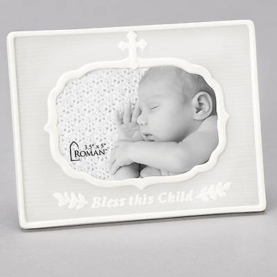 Picture of Bless This Child Porcelain Photo Frame