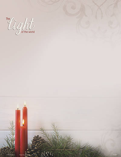 Light of the World Christmas Letterhead