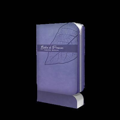 Picture of Biblia de Promesa Tamaño Manual / Piel Especial / Lavanda / Con Cierre