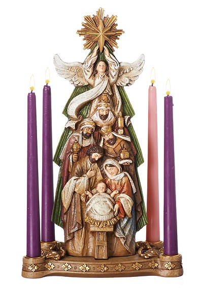 Picture of Nativity Under Star Candleholder