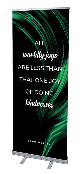 Picture of All Worldly Joys Color Swirl Words of Wesley Rollup Banner