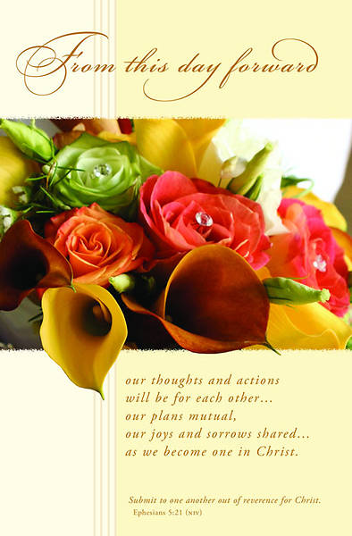 Wedding/Ephesians 5:21 Bulletin, Regular (Package of 100)
