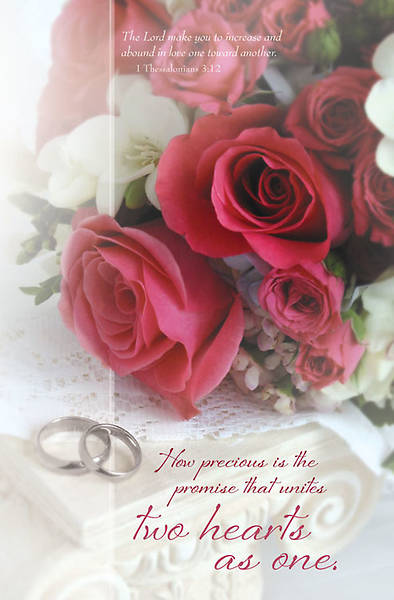 Wedding/1 Thessalonians 3:12 Bulletin, Regular (Package of 100)