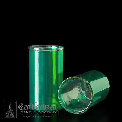Cathedral Inserta-Lite 3-Day Reusable Glass Globe - Green