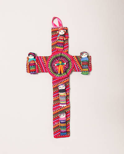 Fabric Worry Doll Cross - Guatemala