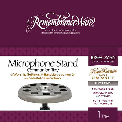 Microphone Stand Communion Tray - Silver