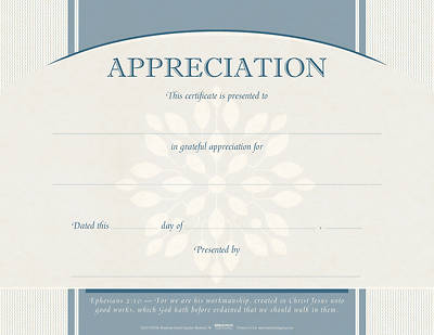 Picture of Appreciation Flat Certificate