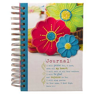 Journal Wirebound Large White W/ Cookies Praise You