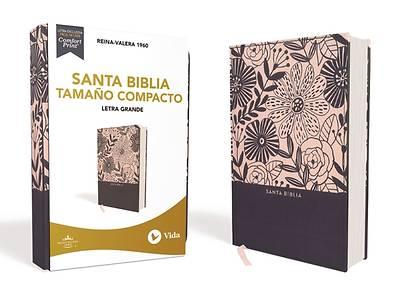 Picture of Rvr60 Santa Biblia, Letra Grande, Tamaño Compacto, Tapa Dura/Tela, Azul Floral, Edición Letra Roja