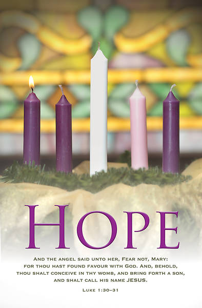 Hope Advent Wreath Regular Size Bulletin