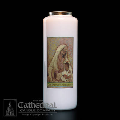 Our Lady of Czestochowa 6-Day Glass Candle