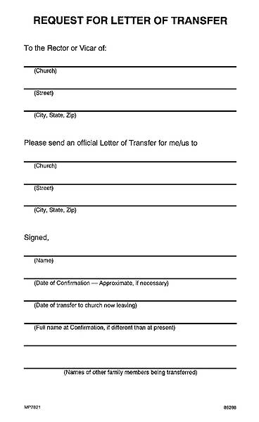 Request for Letter of Transfer Download