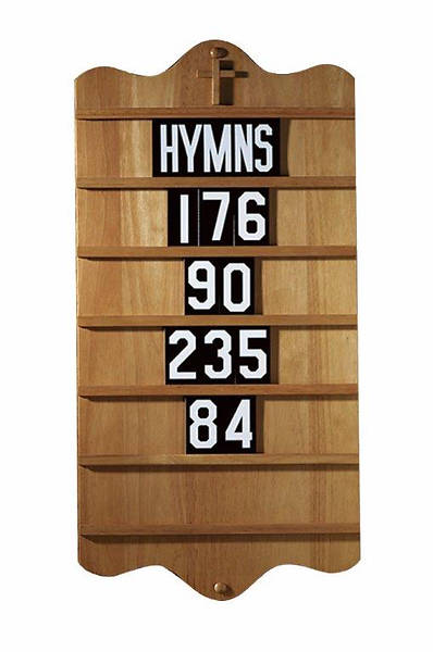 Picture of Wall Mount Hymn Board - Pecan Stain