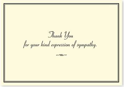 Picture of Sympathy Thank You Notes