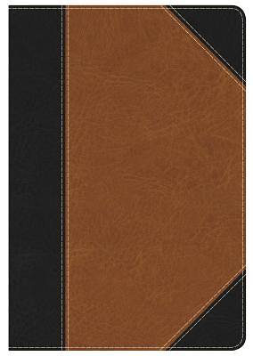 Picture of KJV Study Bible Personal Size, Black/Tan Leathertouch