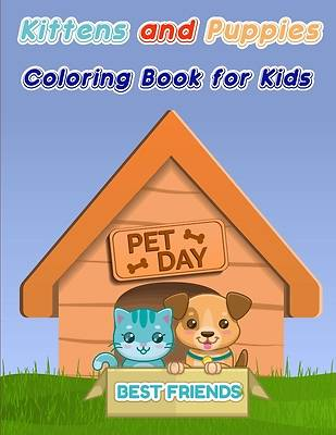 Picture of Kittens and Puppies Coloring Book for Kids