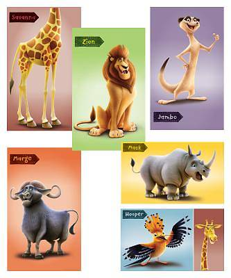 Vacation Bible School (VBS19) Roar Giant Bible Memory Buddy Poster Pack (set of 6, 3 ft. x 5 ft.)