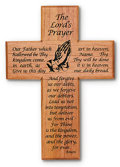 Picture of Cross Lord's Prayer Wooden