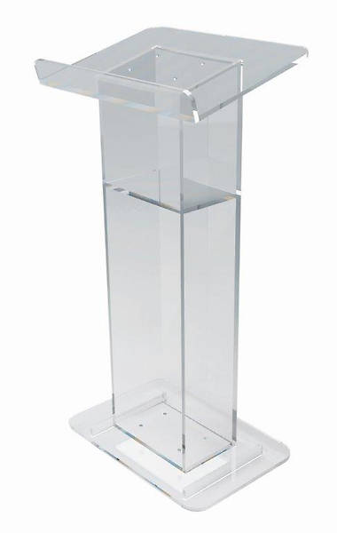 Acrylic Lectern with Shelf