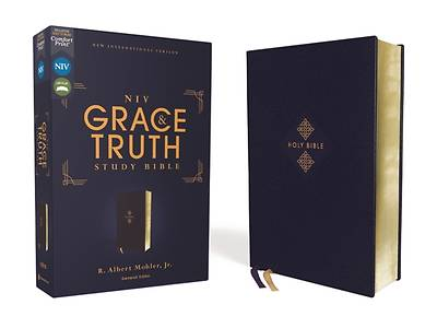 Picture of Niv, the Grace and Truth Study Bible, Leathersoft, Navy, Red Letter, Comfort Print