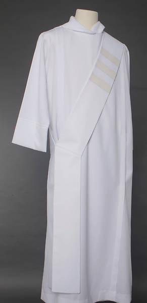 Picture of Trinity Stripe Deacon Stole - White