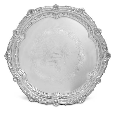 Picture of Anniversary Gift Tray - Silverplate