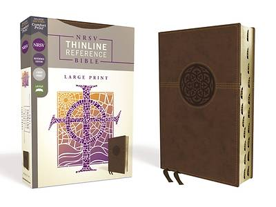 NRSV Thinline Reference Bible, Large Print, Leathersoft, Brown, Indexed, Comfort Print