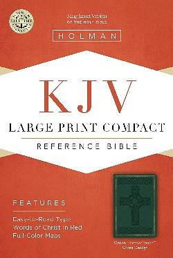 KJV Large Print Compact Reference Bible, Green Leathertouch