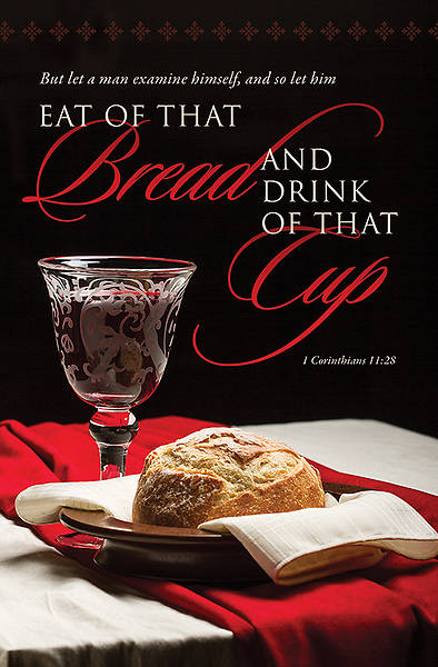 Communion Bulletin Eat of That Bread Regular (Package of 100)