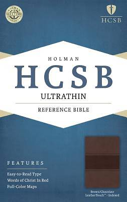 HCSB Ultrathin Reference Bible, Brown/Chocolate Leathertouch Indexed