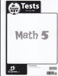 Math 5 Test Answer Key 3rd Edition