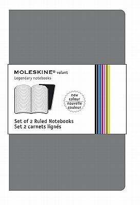 Moleskine Volant Notebook Ruled, Grey Xsmall