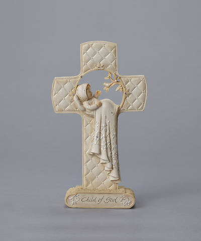 Picture of Child of God Christening Cross - Polyresin 7""