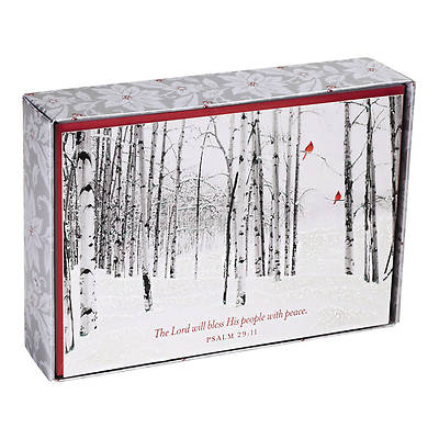 The Lord Will Bless His People Christmas Cards Box of 18