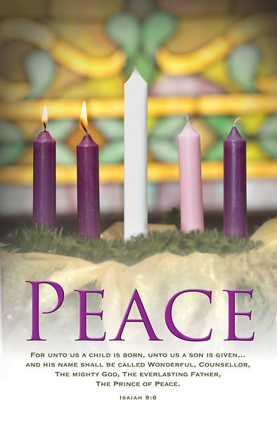 Peace Advent Wreath Regular Size Bulletin